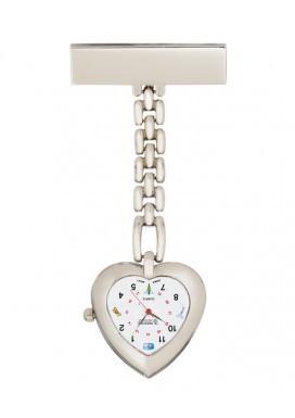 Lapel Watch - Chain, Heart